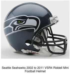 Seattle Seahawks 02 11 Riddell Mini Football Helmet